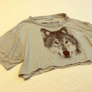 Wildfox Wolf Crop Top